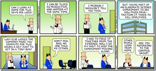 Dilbert - elaborate science experiment
