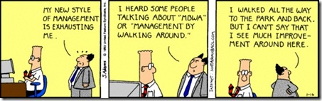 Dilbert - Management By Walking Around