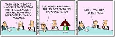 Dilbert Telecommuting