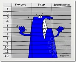 Gapingvoid - Freedom from spreadsheets