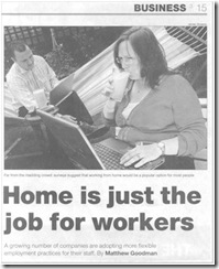 Home is just the job workers